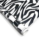 JOM 700029 Stylingfolie Erlkönig-Design, schwarz - weiß 152 x 200 cm, geeignet für Innen u. Außen, Selbstklebend, PVC