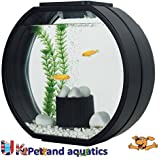 Fish R Fun Deco Fish Tank, 10 Litre, Black