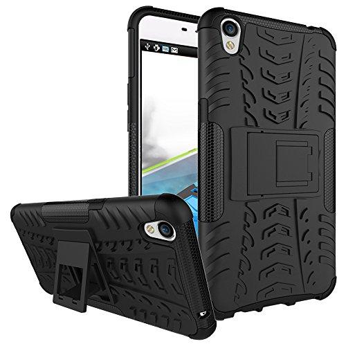 COVO® Festigkeit und Flexibilität Zurück Cover Style Smartphone Hülle mit Kickstand für OPPO F1 Plus (Schwarz)