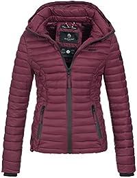 14deb43c126980 Marikoo SAMTPFOTE Damen Stepp Jacke Daunen Look gesteppt Übergang XS-XXL  11-Farben