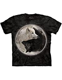 The Mountain Unisexe Enfant Loups Yin Yang T Shirt