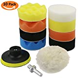 TedGem Polishing Pads Sponge and Woolen Polishing Waxing...