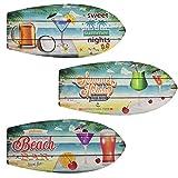 Multistore 2002 Wanddeko Surfboard, 78x30x2cm, Holzschild Wandschmuck Wandbild