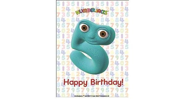 A4 icing Numberjacks No5 Cake Decoration Happy Birthday Amazon – Numberjacks Birthday Card