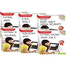 INCEPTION INDIA Learn ASP .NET, CSS, PHP, XML, JAVA SCRIPT, HTML, XSLT, HTML 5, DHTML, JQUERY, JSP, AJAX and HTML DOM - 13- FULL COURSES - Web Designing And Scripting(6 CDs)