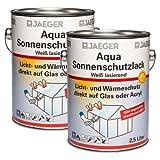 2 x Jaeger Aqua Sonnenschutzlack 2,5l | Wärmeschutzlack | Milchglaslack