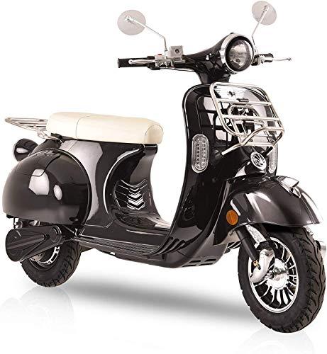 Elektroroller Classico Li, 3000 Watt, E-Scooter, Elektro-Roller, E-Roller mit Straßenzulassung, 45 km/h, 2 herausnehmbare Lithium-Akkus, Produktvideo, Schwarz