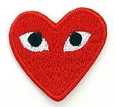 Comme des Gar?ons CDG Badge à coudre ou à repasser Rouge