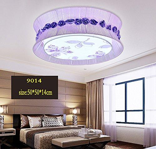 LightSei EU Runde Warm Romantische LED Deckenleuchten Kinderstudie Wohnzimmer Master-Schlafzimmer-Lichter ( Farbe : Weißes Licht-36w )