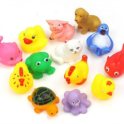 Electomania Animal Bath Toys for Baby (Assortment of 13 toys)