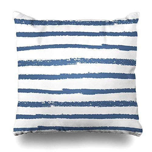 yiyuanyuantu Decorativepillows Case Throw Pillows Covers for Couch/Bed 18 x 18 inch,Stripe Striped Vintage Paint Doodle Abstract Brush Home Sofa Cushion Cover Pillowcase Gift Bed Car Living Home - Vintage Paint Brush