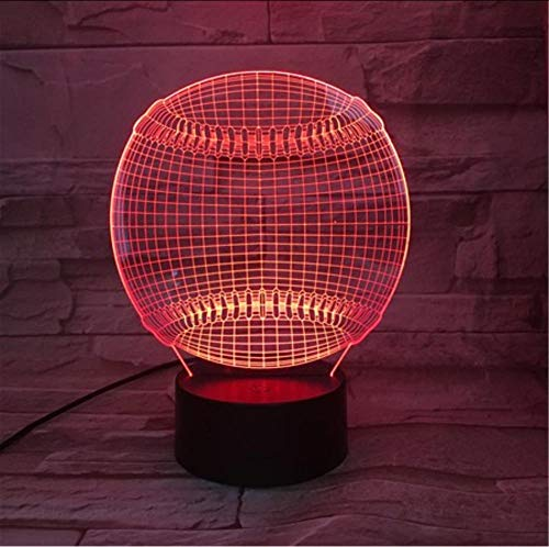 Ysurehom Tennisball 3D Led Nachtlicht 7 Farben Ändern Touch Sensor Usb Oder Batteriebetriebenes Nachtlicht Für Home Room Sports Decor Lampe