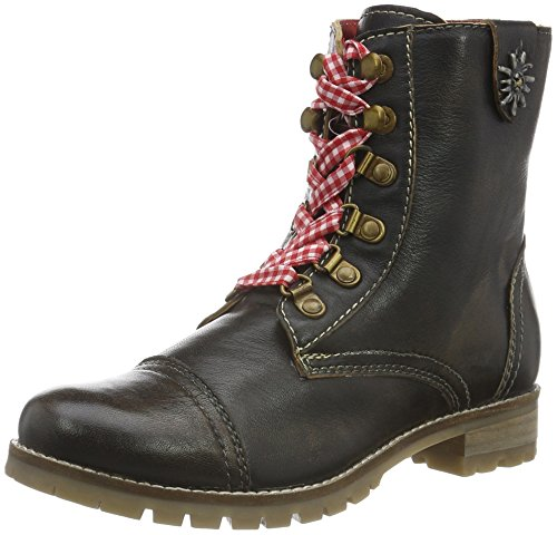Bergheimer Trachtenschuhe Damen Tauplitz Glatt Chukka Boots, Braun (Brown), 42 EU