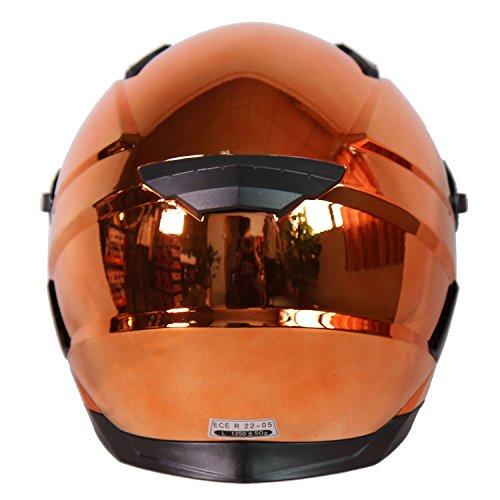 Nenki NK-861Vollvisier-Motorradhelm, ECE geprüft, mit Sonnenblende - 4
