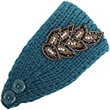 DEESEE(TM Women Knitting Headband Handmade Keep Warm Hairband Hair Accessories (Green)