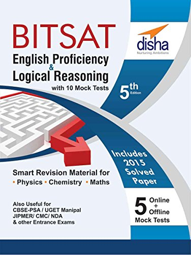English & Logical Reasoning for BITSAT with 10 Mock Tests (5 in Book and 5 Online Tests)
