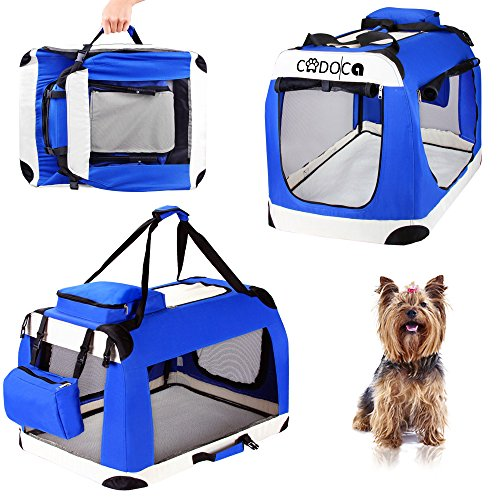 CADOCA Hunde- und Katzentransportbox faltbar Größenauswahl M