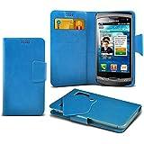 (Baby Blue) Samsung S8530 Wave II Super dünne Kunstleder Saugnapf Wallet Case Hülle mit Credit / Debit Card SlotsBy Spyrox