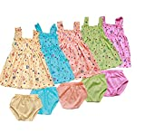 Feel Trendy Cotton Frock for Baby Girls(Pack of 4)
