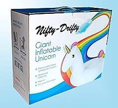Idea Regalo - Nifty-Drifty Unicorno Gonfiabile King Size Mare Piscina Tempo Libero