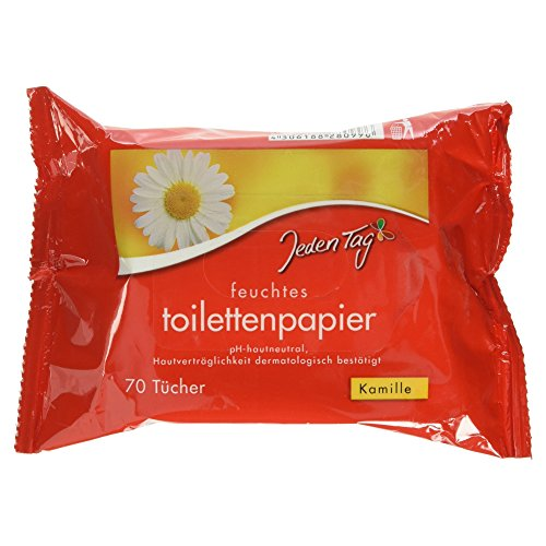 Jeden Tag Feuchtes Toilettenpapier Kamille, 70 Tücher