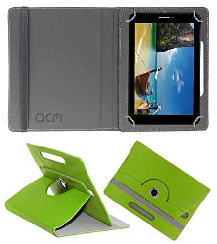 Acm Rotating 360° Leather Flip Case for Iball Slide 2g 7236 Cover Stand Green  available at amazon for Rs.149