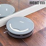 Omnidomo-RumBot Mini-Robot Aspirador Inteligente, Cepillo Lateral 360º, Batería Recargable, Depósito 500 ml, 100 min