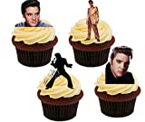 : Elvis Presley Pictures, Edible Cake Decorations - Stand-up Wafer Cupcake Toppers