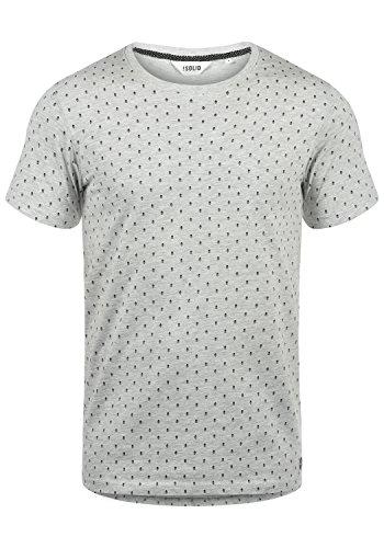 !Solid Aaron Herren T-Shirt Kurzarm Shirt Mit Rundhals-Ausschnitt Und All-Over-Print, Größe:XXL, Farbe:Light Grey Melange (8242)