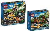 LEGO City 60159 - Mission mit dem Dschungel-Halbkettenfahrzeug + LEGO City 60157 - Dschungel-Starter-Set