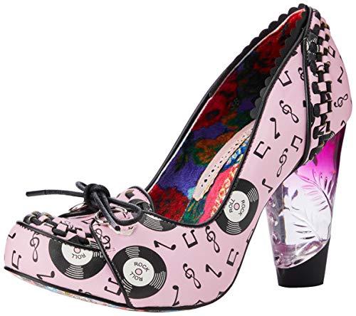 Irregular Choice Rocko, Zapatos de tacón con Punta Cerrada para Mujer, Rosa Pink F, 38 EU