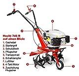 HECHT Benzin-Gartenfräse 746 Motor-Hacke - 2