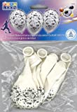 Karaloon 30022 - 6 Ballons Fußball 28-30 cm, weiß