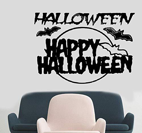 wandaufkleber 3d Wandaufkleber Schlafzimmer Happy Halloween Flying Bat Dekoration All Saints Funny Wohnzimmer Wohnzimmer Fensterglas Aufkleber (Y Halloween, Happy All)