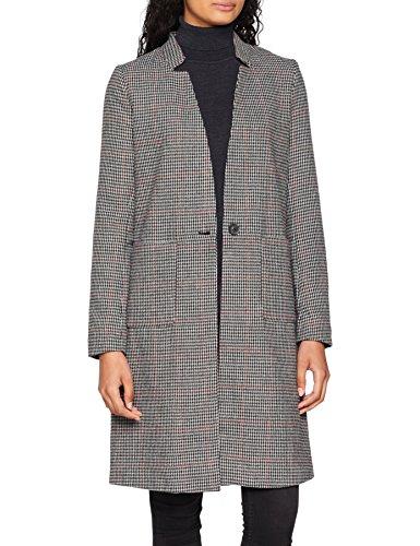 ONLY Damen onlHELEN Check Wool Coat CC OTW Mantel, Mehrfarbig (Black Port Royale), 34 (Herstellergröße: XS) -