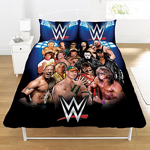 wwe-legends-set-piumone-50-50-in-puro-cotone-poliestere-multicolore-doppio-200-x-200-cm