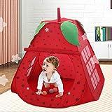 YJYRCYJLH Cartoon Erdbeer Spielhaus, eng mit bunten und großen Raum genäht (einzelnes Zelt enthält kein anderes Zubehör)