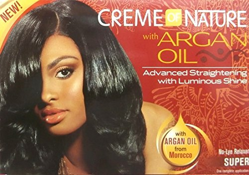Relaxer/Lissage Crème Crème of Nature with Huile d'Argan Relaxer Super