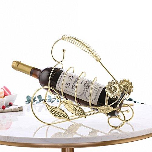 QIANGZI Kleiner Countertop-Wein-Gestell-Verzierungs Für Enthusiasten Im Pantry-Keller-Küchen-Wohnzimmer-freies Stehendes Regal-Goldbronze (Farbe : Gold) - Stapelbare Wein-keller