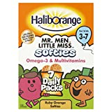 Haliborange Kids Multivitamins and Omega-3 Orange Softies, 7 mini packs, Total 35 Softies