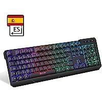 KLIM Chroma - Teclado Inalámbrico Gaming en ESPAÑOL - Wireless - Alto Rendimiento - Teclado Retroiluminado