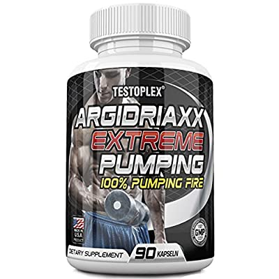 Argidriaxx Extreme Pumping, Nitric Oxide Supplement - Premium Muscle Building Nitric Oxide Booster with a AKG KIC - Arginine & Citrulline, Caffeine from Testoplex