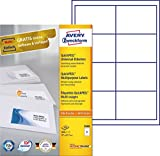 Avery Universal Labels - Etiquetas multiuso (97 x 67.7 mm, 800 unidades), blanco