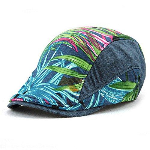 Impression 1 PCS Boinas Ocio Retro Hat Gorra de Golf Sombrero de Sol Deporte al Aire Libre Primavera Verano para Unisex Hombre Mujer (A)