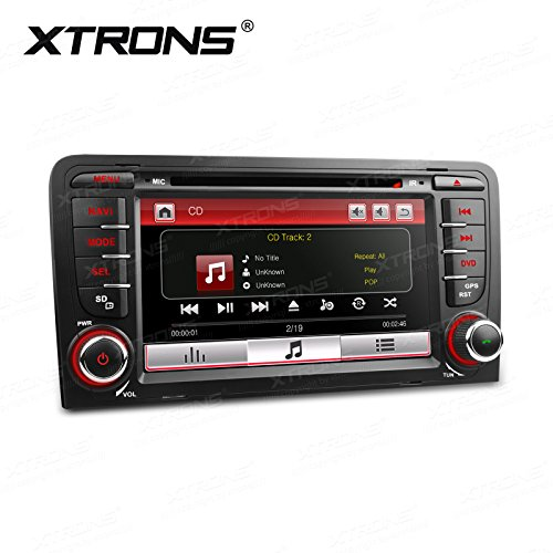 """XTRONS 7"""" Auto Naviceiver Touchscreen Autoradio mit Windows CE DVD-Player Autostereo GPS Navigation Bluetooth Musik Streaming Auto Multimedia Naviceiver FÜR Audi A3 S3 RS3"""