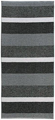 Kunstfaser-Teppich BLOCK graphit - geeignet für Küche, Bad ...