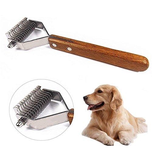 Onebarleycorn - spazzola per animali domestici, pettine gatto pelo lungo,spazzola cane, acciaio inox