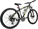 COSMIC TRIUM 27.5 INCH MTB BICYCLE 21 SPEED BLACK/GREEN-PREMIUM EDITION TRIUM26BKGR Hybrid Cycle (Black, Green)