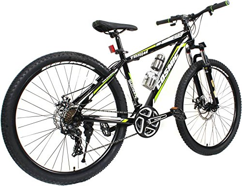 Cosmic Trium 27.5 Inch Mtb Bicycle 21 Speed Black/Green-Premium Edition Trium26Bkgr Hybrid Cycle (Black, Green)