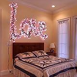 GlobaLink® 3m 400 LED Lichterkette Dekobeleuchtung Niederspannung, Ideal für Haus, Garten, Party, Hochzeit, Geburtstag (Rosa und weiß)